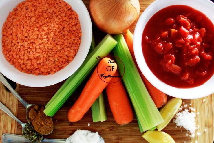 lentil soup ingrediants